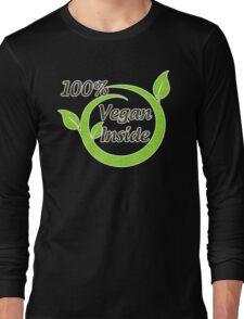 100% Vegan Inside Long Sleeve T-Shirt