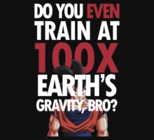 Do you even train at 100x Earth gravity? - Dragon Ball Z - Goku  by Lamamelle2nd