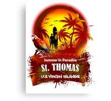 St. Thomas Summer Time Canvas Print