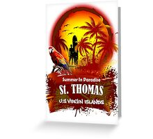 St. Thomas Summer Time Greeting Card