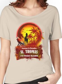 St. Thomas Summer Time Women's Relaxed Fit T-Shirt