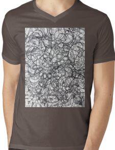 """The Artist Adamo """"RAW Sharpie Conceptual Quilting"""" Mens V-Neck T-Shirt"""