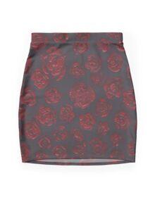 Midnight Roses Mini Skirt