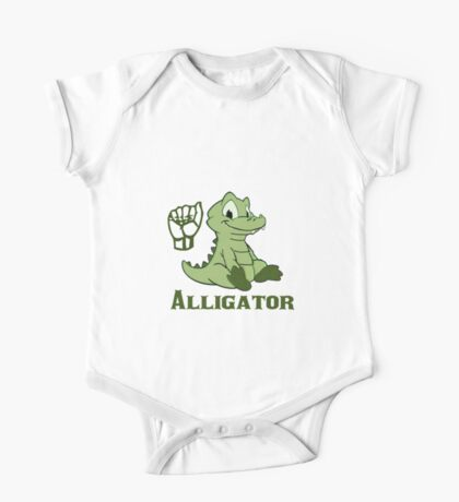A is for Alligator - ASL One Piece - Short Sleeve