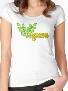 Vegan Women's Fitted Scoop T-Shirt