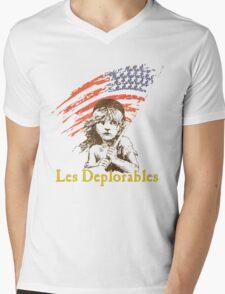 LES DEPLORABLES - White Mens V-Neck T-Shirt