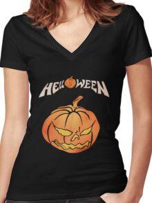 Merchandise_Helloween Women's Fitted V-Neck T-Shirt