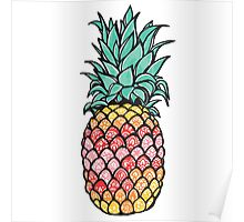 Ombre Pineapple Poster