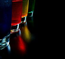 Colorful cups in a row by Alemay
