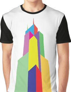 Rainbow Sears Tower Graphic T-Shirt