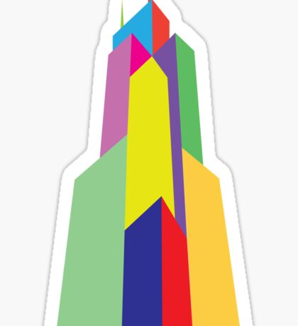 Rainbow Sears Tower Sticker
