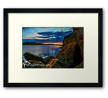Sunset in Ballyshannon LS Framed Print