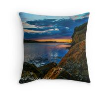 Sunset in Ballyshannon LS Throw Pillow