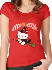 Kitty_Helloween Women's Fitted Scoop T-Shirt