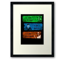 The Good the Bad The Trevor Gta 5 Framed Print