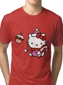 Kitty_Helloween Tri-blend T-Shirt