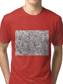 "The Artist Adamo ""RAW Coceptual Sharpie french curve 2014"" Tri-blend T-Shirt"