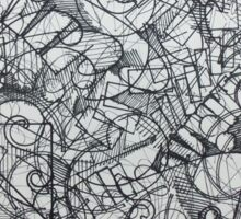 "The Artist Adamo ""RAW Coceptual Sharpie french curve 2014"" Sticker"