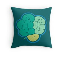 Broccoli Head Throw Pillow