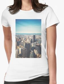 New York City Skyline Womens Fitted T-Shirt