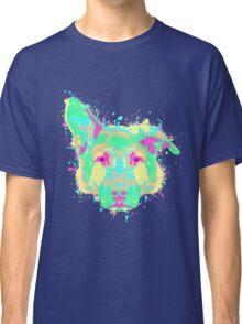 German Shepherd Pastel Splatter Classic T-Shirt