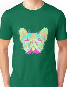 French Bulldog Pastel Splatter Unisex T-Shirt