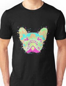French Bulldog Pastel Splatter Unisex T-Shirt