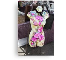 Dresses Well, great figure, never complains and will hang around as long as you like. Canvas Print