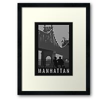 Manhattan Movie Artwork Framed Print