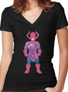 Galaxy: Galactus Women's Fitted V-Neck T-Shirt