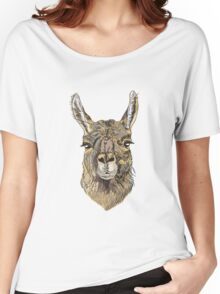 Alpaca Hand drawn illustration. Women's Relaxed Fit T-Shirt