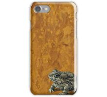 """""""Toadally"""", marbled surreal toad painting iPhone Case/Skin"""
