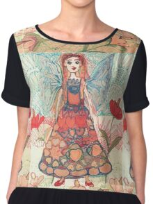 Florals Fantasy and Flower Fairy  Chiffon Top