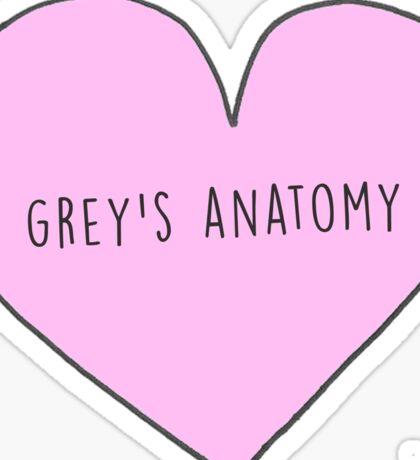 GREY'S ANATOMY CANDY HEART Sticker