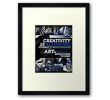 Creativity vs. Art Typography/Photography Piece Framed Print