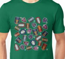 Link's Shields (with Fairies!) - Green Unisex T-Shirt
