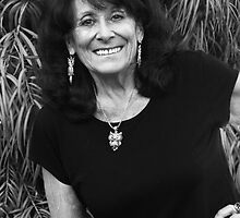 Self at Seventy-Three in Black and White by Heather Friedman