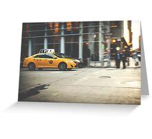 Taxi, Taxi! Greeting Card
