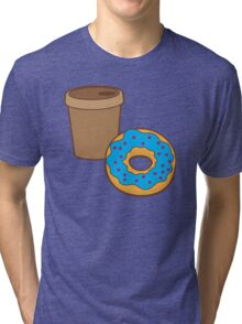 take away coffee cup and a donut (Doughnut) Tri-blend T-Shirt