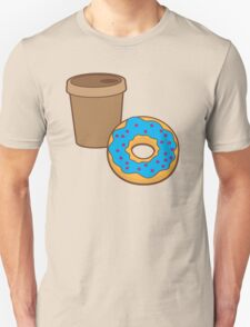 take away coffee cup and a donut (Doughnut) Unisex T-Shirt