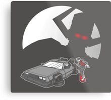 Flight of the Delorean Metal Print