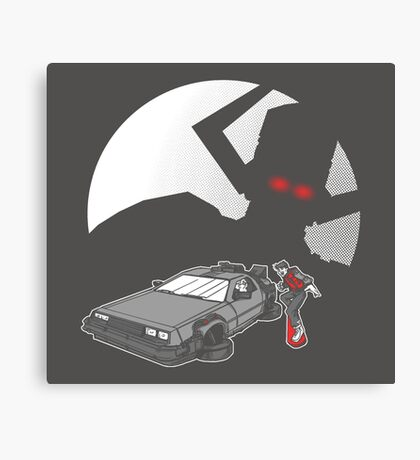 Flight of the Delorean Canvas Print