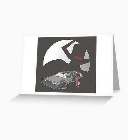 Flight of the Delorean Greeting Card