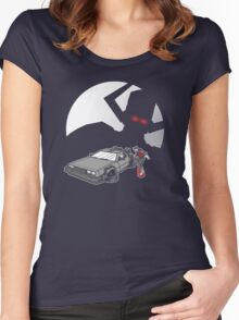 Flight of the Delorean Women's Fitted Scoop T-Shirt