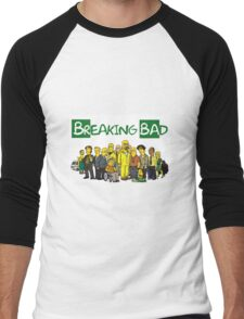 The Simpsons ( Breaking bad) Men's Baseball ¾ T-Shirt