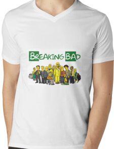 The Simpsons ( Breaking bad) Mens V-Neck T-Shirt