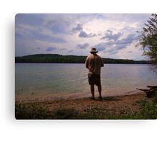 The Lone Fisherman Canvas Print