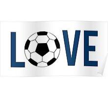 Love Soccer (blue) Poster