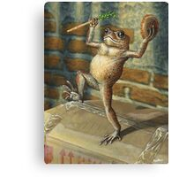Dancing 'Poor Man' Toad, acrylic painting Canvas Print