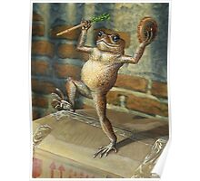 Dancing 'Poor Man' Toad, acrylic painting Poster